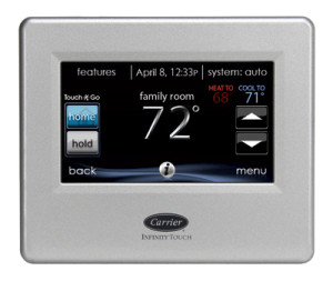infinity touch air conditioner control